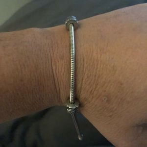 Pandora bracelet with two stoppers